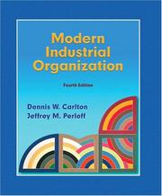 Cover of: Modern Industrial Organization | Jeffrey M. Perloff