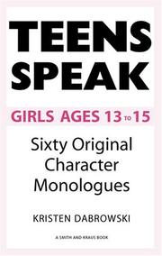 Cover of: Teens Speak Girls Ages 13 To 15 | Kristen Dabrowski