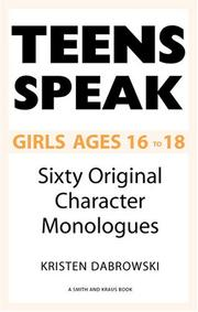 Cover of: Teens Speak Girls Ages 16 to 18 | Kristen Dabrowski