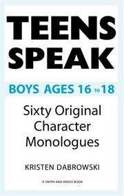 Cover of: Teens Speak Boys Ages 16 To 18 | Kristen Dabrowski