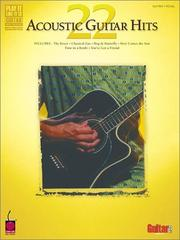 Cover of: 22 Acoustic Guitar Hits (Play-It-Like-It-Is) | Various Artists