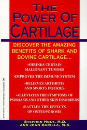 Cover of: The power of cartilage | Holt, Stephen