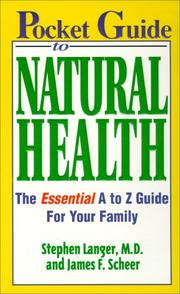 Cover of: Pocket guide to natural health | Stephen Langer