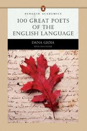 Cover of: 100 Great Poets of the English Language by Dana Gioia