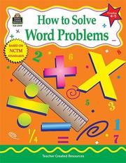 Cover of: How to Solve Word Problems, Grades 4-5 | Charles Shields