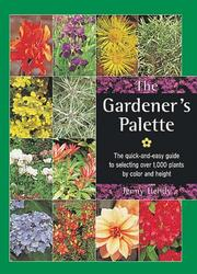 Cover of: The Gardener's Palette | Jenny Hendy