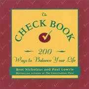 Cover of: The check book by Bret Nicholaus