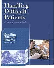 Cover of: Handling Difficult Patients by Richard Bryan
