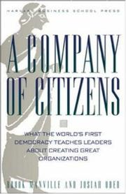 Cover of: A Company of Citizens | Josiah Ober