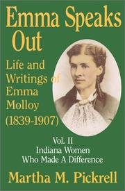 Cover of: Emma speaks out | Martha M. Pickrell
