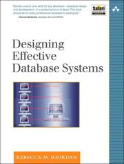 Cover of: Designing Effective Database Systems (The Addison-Wesley Microsoft Technology Series) by Rebecca M. Riordan