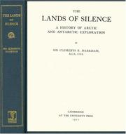 Cover of: The Lands of Silence | Clements Robert, Sir Markham