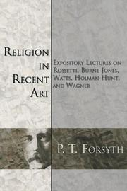 Cover of: Religion in Recent Art | P. T. Forsyth