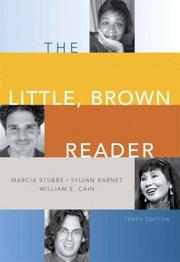 Cover of: The Little, Brown reader | Marcia Stubbs, Sylvan Barnet, William E. Cain