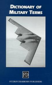 Cover of: Dictionary of Military Terms by Richard Bowyer
