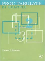 Cover of: Proc Tabulate by Example | Lauren E. Haworth