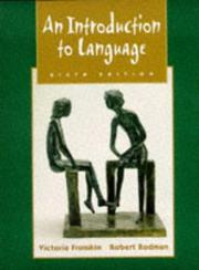 Cover of: An Introduction To Language | Robert Rodman