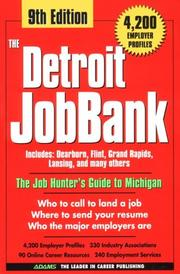 Cover of: The Detroit JobBank, 9th Ed | Steven Graber