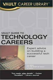 Cover of: Vault Guide to Technology Careers | Tod Emko
