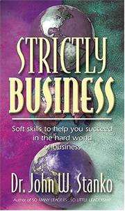 Cover of: Strictly Business | John Stanko