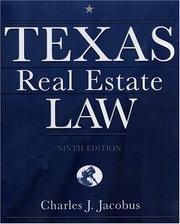 Cover of: Texas real estate law | Charles J. Jacobus
