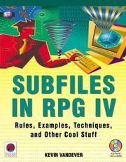 Cover of: Subfiles in RPG IV | Kevin Vandever