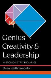 Cover of: Genius, Creativity, and Leadership by Dean Keith Simonton
