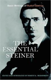 Cover of: The Essential Steiner | Robert, A McDermott