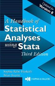 Cover of: A handbook of statistical analyses using Stata by S. Rabe-Hesketh
