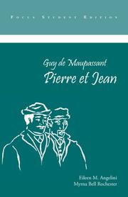 Cover of: Pierre Et Jean (Focus Edition Series) | Guy de Maupassant