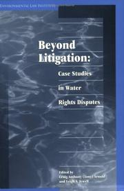 Cover of: Beyond Litigation by Craig Anthony Arnold