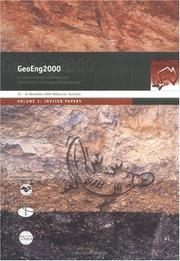 Cover of: GeoEng 2000 by Australian Geom