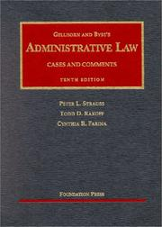 Cover of: Gellhorn and Byse's administrative law by Peter L. Strauss