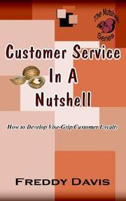 Cover of: Customer Service in a Nutshell by Freddy Davis