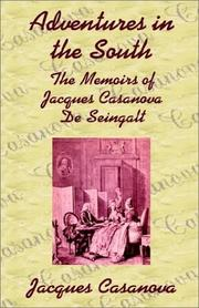 Cover of: Adventures in the South | Jacques Casanova