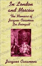 Cover of: In London and Moscow by Jacques Casanova