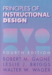 Cover of: Principles of Instructional Design by Robert M. Gagne
