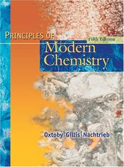Cover of: Principles of modern chemistry | David W. Oxtoby