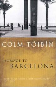 Cover of: Homage to Barcelona | Colm Toibin