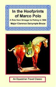Cover of: In The Hoofprints Of Marco Polo | Clarence Dalrymple Bruce