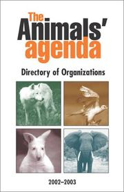 Cover of: The Animals' Agenda Directory of Animal Advocacy Organizations | Kim Stallwood