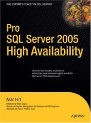 Cover of: Pro SQL Server 2005 High Availability by Allan Hirt