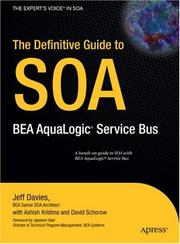 Cover of: The Definitive Guide to SOA | Jeff Davies