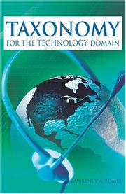 Cover of: Taxonomy for the Technology Domain | Lawrence A. Tomei