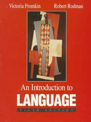 Cover of: An Introduction to Language by Robert Rodman