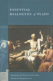 Cover of: Essential Dialogues of Plato | Plato