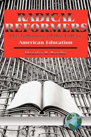 Cover of: Radical Reformers | Maurice Berube