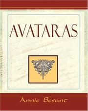Cover of: Avataras - 1900 | Annie Wood Besant