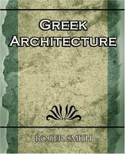 Cover of: Greek Architecture | Roger Smith