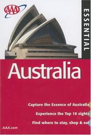 Cover of: AAA Essential Australia, 6th Edition (Essential Australia) | Anne Matthews